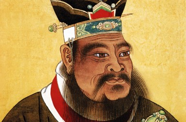 Confucius (c. 551-479 BC) chinese philosopher, chinese painting, 17th century